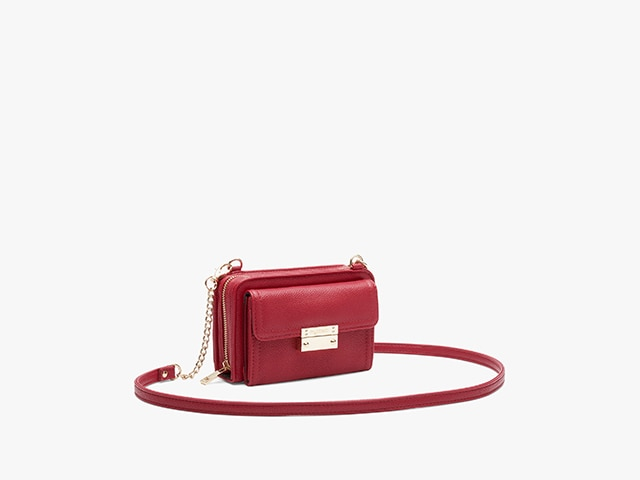 Myabetic Tina Diabetes Mini Crossbody, Crimson