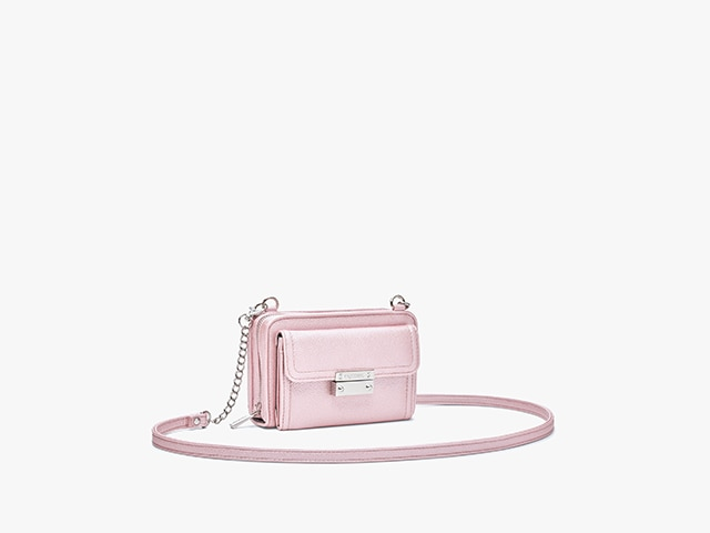 Myabetic Tina Diabetes Mini Crossbody, Pink Frost