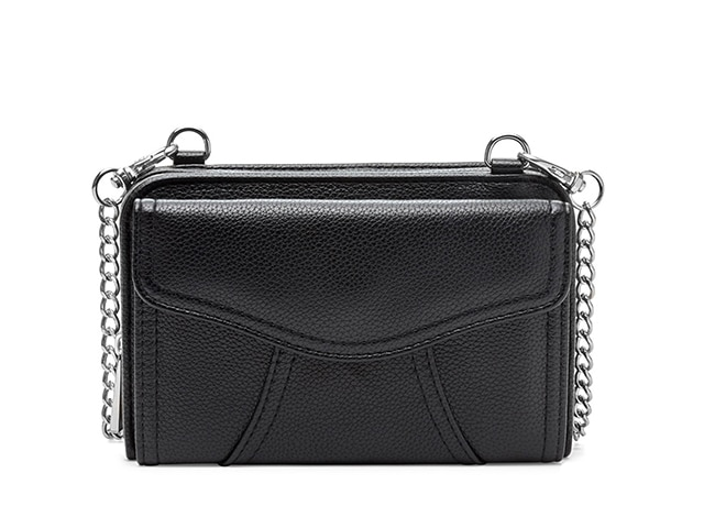 Myabetic Marie Diabetes Mini Crossbody, Black with Silver Hardware