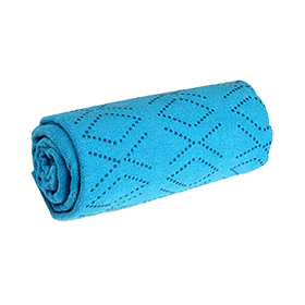 Non-Slip Yoga Towel, Blue