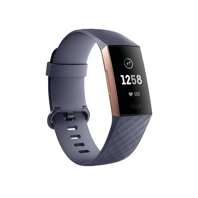 Fitbit Charge 3™ Blue Gray/Rose Gold Aluminum