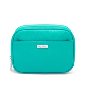 Myabetic Clark Diabetes Compact Double Zip, Turquoise Green