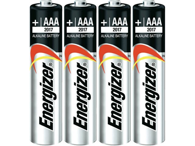 "AAA Energizer<sup><font size=""1"">®</font></sup> Max<sup><font size=""1"">®</font></sup> Batteries"