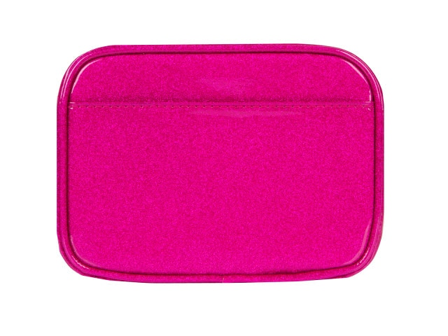 Clark Diabetes Compact Double Zip, Pink Glitter