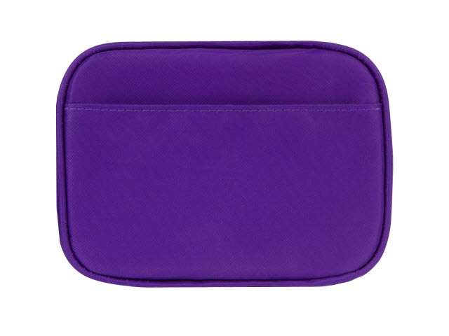 Clark Diabetes Compact Double Zip, Purple Nylon