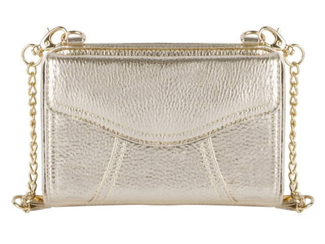 Marie Diabetes Mini Crossbody, Gold