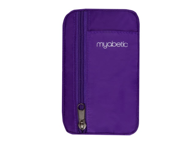 Eli Diabetes Pouch, Purple Nylon