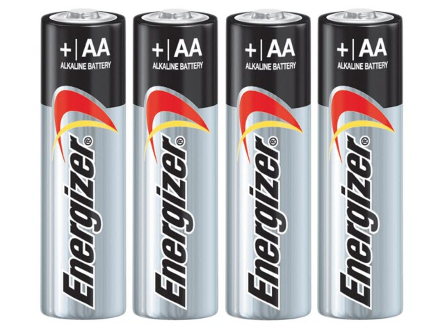 "AA Energizer<sup><font size=""1"">®</font></sup> Max<sup><font size=""1"">®</font></sup> Batteries"