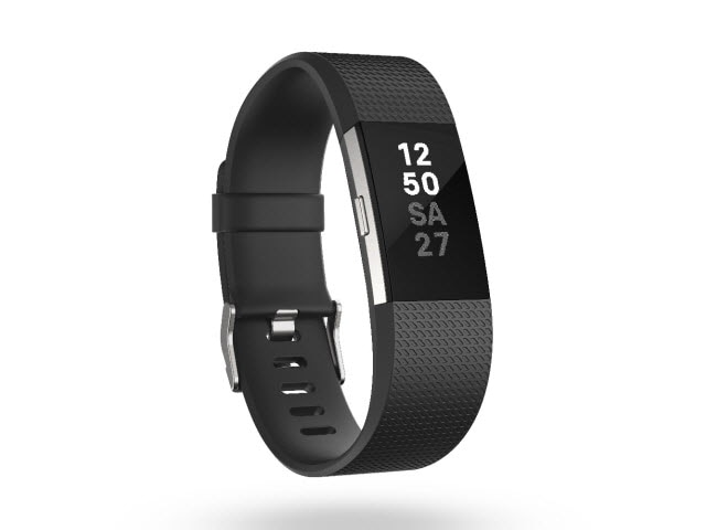 "Fitbit Charge 2<sup><font size=""1"">™</font></sup> - Black, Large"