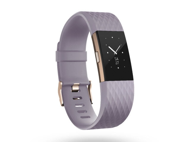 "Fitbit Charge 2<sup><font size=""1"">™</font></sup> - Lavender/Rose Gold, Large"