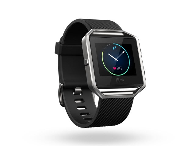"Fitbit Blaze<sup><font size=""1"">™</font></sup> - Black/Silver, Small"