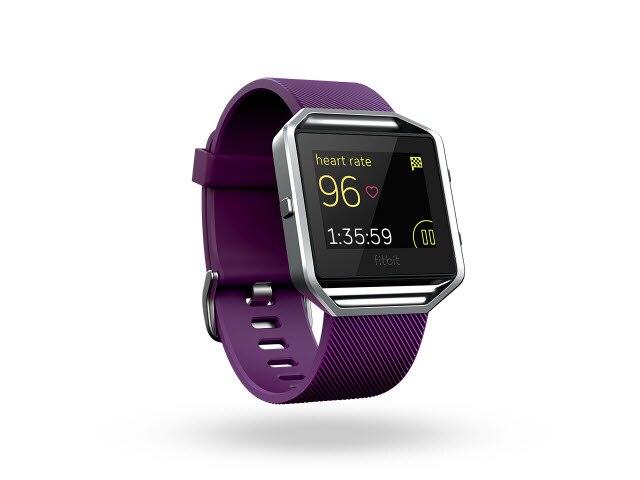 """Fitbit Blaze<sup><font size=""""1"""">™</font></sup> - Plum/Silver, Large"""