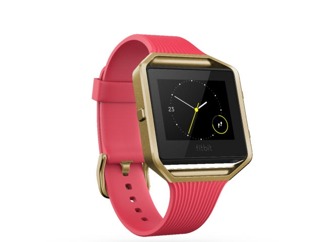 "Fitbit Blaze<sup><font size=""1"">™</font></sup> - Pink/Gold, Large"