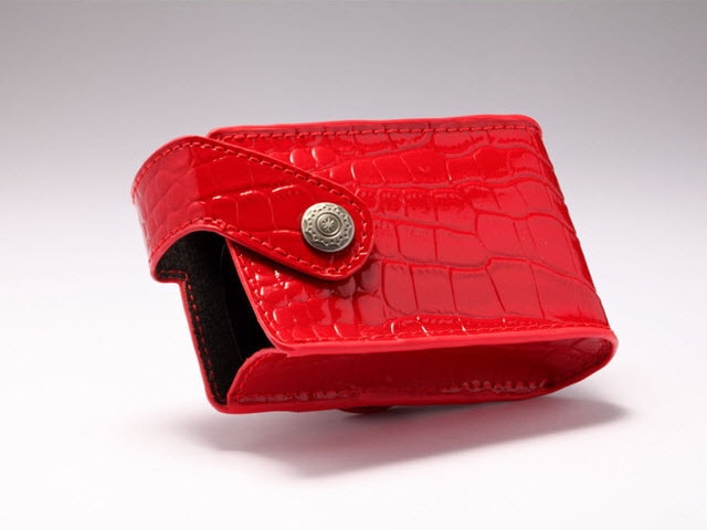 Crocodile Leather Case, Red